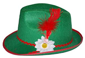 Chapeau tyrolien avec plume verte