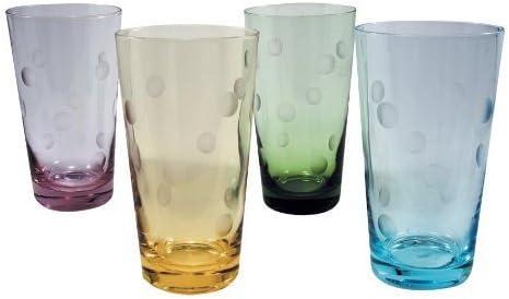 Artland Inc. Polka Dot 20 oz. HiBall Glasses - 4 Set of 4 - by ARTLAND 8ccebe