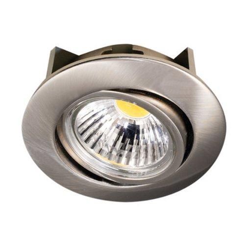 Nobile LED-Einbaustrahler A 5068 T Flat 8 W, rund, nickel-gebürstet 1856690923 - Decken-beleuchtung Gebürstet Nickel