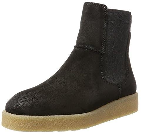 Marc O'Polo Flat Heel 70914295001304, Chelsea Boots Femme, Schwarz (Black), 41 EU