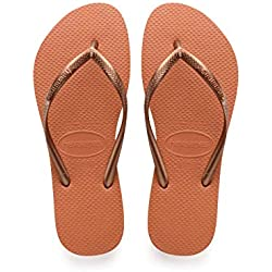 Havaianas Slim Chanclas Mujer, (Bronze Orange 7185), 35/36 EU