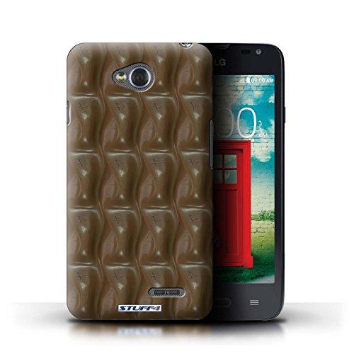 Kobalt® Imprimé Etui / Coque pour LG L65/D280 / Blocs Dairy Milk/Dalle conception / Série Chocolat Galaxy Vague