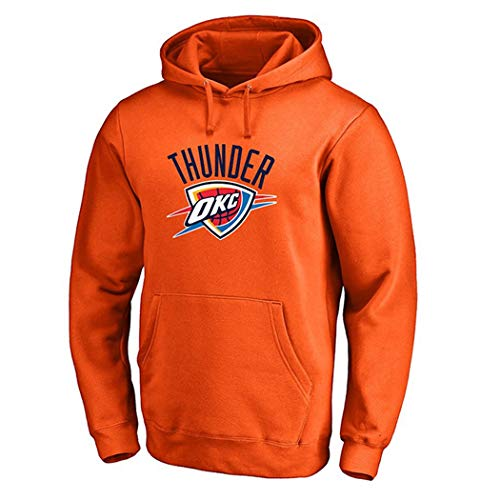 HUIFANGTSHIRT Pullover Herren Hoodie Herbst Und Winter Hoodies Plus Velvet Pullover (Color : Orange, Size : XL) -