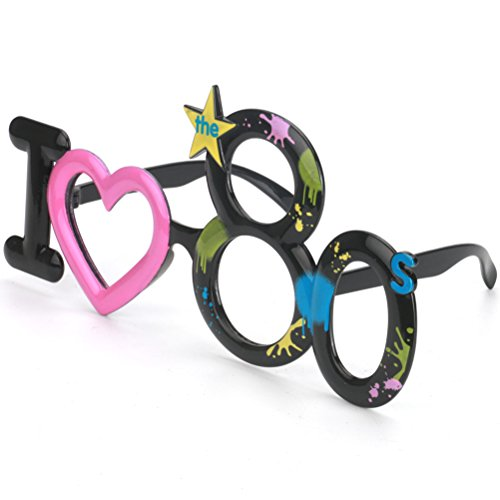 Amosfun Me encantan 80s Party Glasses Costume Cosplay