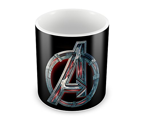 Creative Superhero Captain America Machine Logo Ceramic Coffee Mug (350 ml, 11 oz, High Quality Glossy Print)  available at amazon for Rs.269