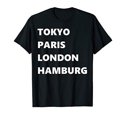 Marathon Metropolen der Welt Shirt Hamburg meine Perle.