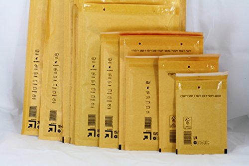 13/C--14,6x 21,6cm--Craft carta kraft Bubble Mailers buste imbottite, borsa per trasporto