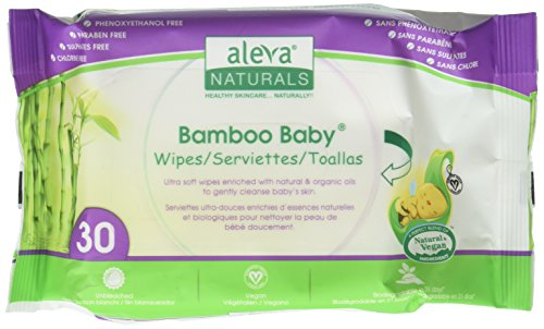 Aleva Naturals (Aleva Naturals Bamboo Baby Travel Wipes - Unscented - 30 ct by Aleva Naturals)
