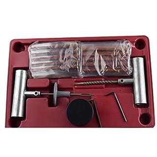 HOT1950s Universal-Reifenreparatur-Set für Reifenreparatur, Werkzeug Set, Dübeln, 35 Teile, Reifenreparaturstreifen, Raspelwerkzeug, Einsatz, Sechskantschlüssel und Dichtungsschmiermittel
