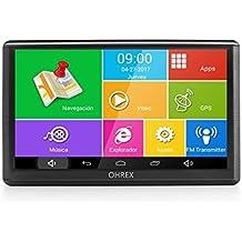 """OHREX 740A 7"""" GPS Navegador Coche Camion y Wifi Bluetooth,Precargado Europa completa América Mapas Toda la vida Gratis Digital Tráfico"""