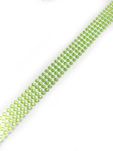 Diamante Me autocollant 3 mm Plusieurs couleurs 22,9 cm bande vert clair