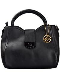 Shopclans Black Color Handbag For Girls / Women's (SPC-065)