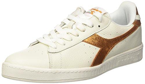Diadora Game Metallic, Sneaker a Collo Basso Uomo, (Bianco/Oro), 39 EU