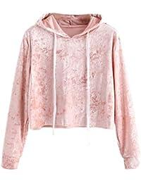 Mujer Blusa sudaderas tops otoño casual urbano streetwear,Sonnena Sudadera con capucha mujer Abrigo superior