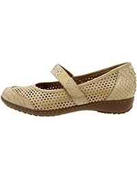 Calzado mujer confort de piel Piesanto 8756 zapato velcro plantilla extraíble cómodo ancho