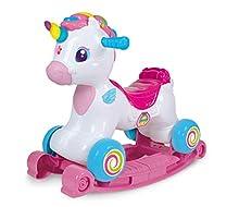 Clementoni-El Unicorno Dondolo Multicolore (617647)