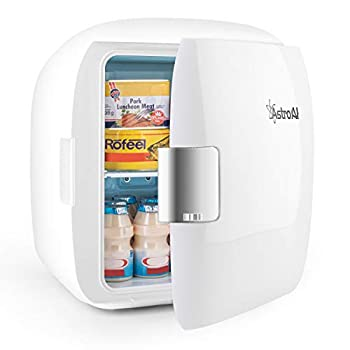 AstroAI Mini Fridge 9 Litre/12 Can AC/DC Portable Thermoelectric Cooler and Warmer for Skincare, Foods, Medications, Home and Travel, White