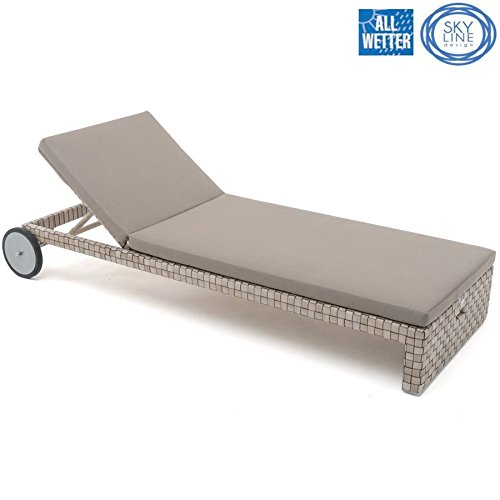 SKYLINE DESIGN® FLORENCE LOUNGE LIEGE SINGLE LOUNGER