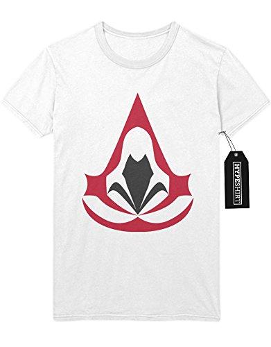 """T-Shirt Assassins Creed """"HOOD LOGO"""" H123146 Weiß"""