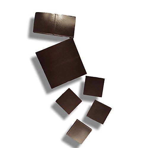 Selbst-Klebende Magnete 10 Stück | extra kleine starke, quadratische, klebende Magnetplättchen für Kühlschrank Glas-Tafel White-Board Schule Unterricht Mini Pinnwand zum Basteln mit abziehbarer Folie