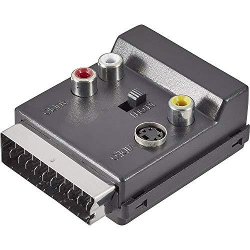 SpeaKa Professional SCART/Cinch/S-Video Y-Adapter [1x SCART-Stecker - 3X Cinch-Buchse, SCART-Buchse, S-Video-Buchse] -