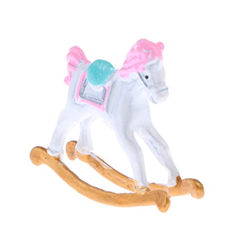 MagiDeal 1:12 Scale Metal Rocking Horse Dolls House Miniature Baby's Nursery Room Furniture
