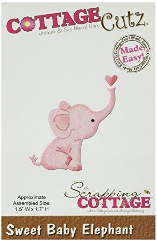 Cottage Cutz Metall Mini die-Sweet Baby Elefant, X motivprogrammen - Cutz Cottage