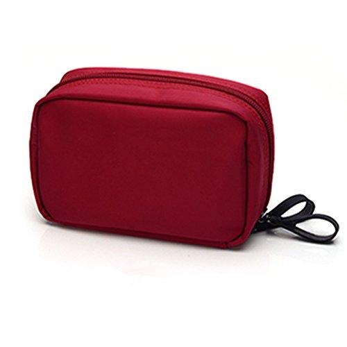 Frcolor Portable Voyage Organisateur Sac cosmétique trousse de toilette (rouge)