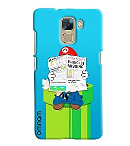 Omnam Mario Reading Newspaper On Water Tank Printed Designer Back Cover Case For Huawei Honor 7