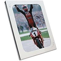 Exclusive Memorabilia Superbikes Foto Signiert von Carl Fogarty. in Geschenkbox