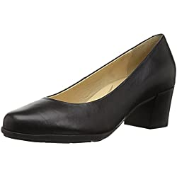 Geox D Annya Mid B, Zapatos de Tacón para Mujer, Negro (Black), 38 EU