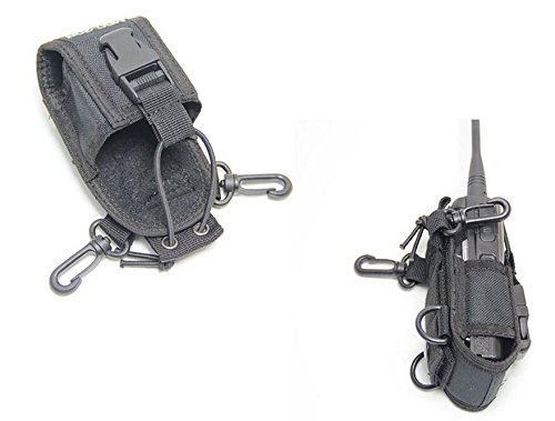 Fengh Tasche Tasche Holster Schutzhülle für GPS PMR446Radio Transceiver Talkie (schwarz) Gps-transceiver