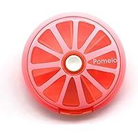 putwo Pomelo Pink Pillendose 7Tage Tablett rund Medizin Vitamine Behälter Aufbewahrung Spender preisvergleich bei billige-tabletten.eu