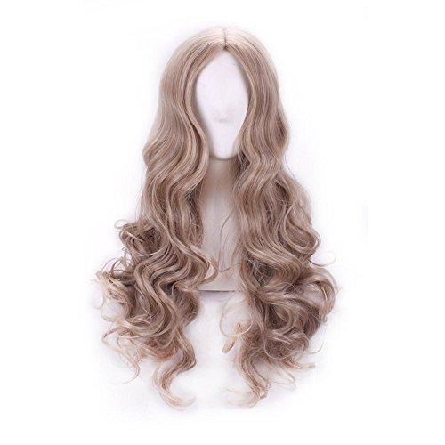 Blond Kostüm Perücken (Sehr hochwertige Cinderella Erwachsenen Perücke mit Wellen blonde Locken)