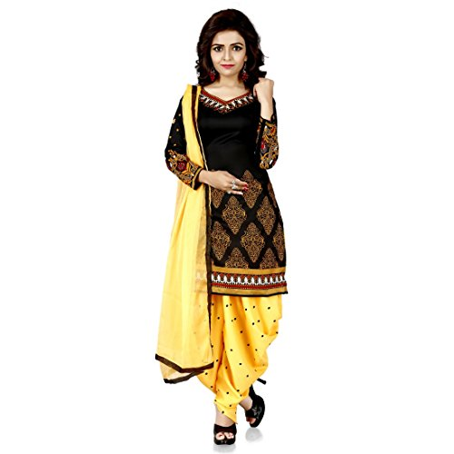 White World Women\'s Dress Latest Party Wear Designer Polly cotton Free Size Salwar Suit Dress Material Available On Sale