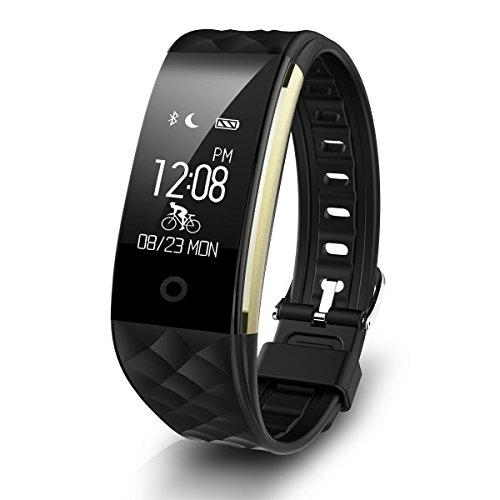 Fitness-Tracker für iOS und Android, Q8 Smart Band für Schlaf-und Aktivitätenüberwachung mit Schrittzähler, Call-ID-Anzeige, Kalorienzähler, Alarm und Touchscreen