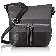 Tom Tailor Acc Ellen, Women's Cross-Body Bag, Black (Schwarz), 25.5x23.5x5.5 cm (W x H L)