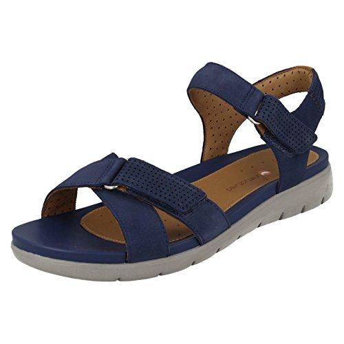 cd4772c0f7af Clarks Ladies Casual Sandals Un Saffron - Dark Blue Nubuck - UK Size 3D - EU