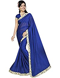 Sarees(Online V Mart Women's Clothing Saree New Fancy Saree For Women Latest Design Collection Georgette Material...