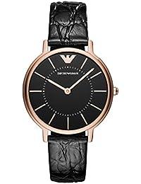 509b90ca8895 Emporio Armani Damen Quarz Uhr mit Leder Armband AR11064