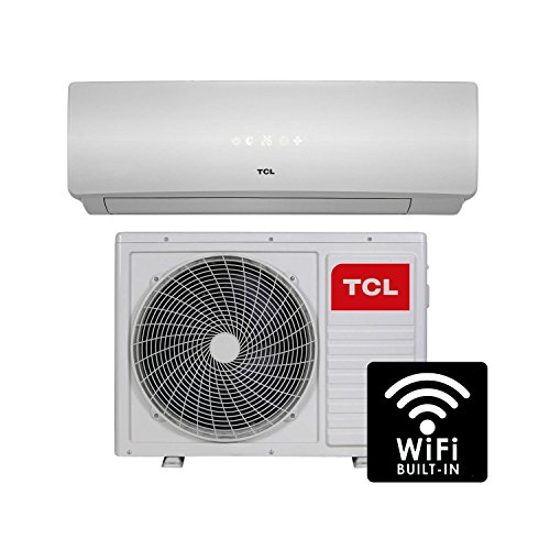41gA8F7cAxL. SS500  - 18000 BTU Smart WiFi A++ easy-fit DC Inverter Wall Split Air Conditioner with 5 meters pipe kit - Wall Mounted Air Conditioning Unit with 5 years warranty