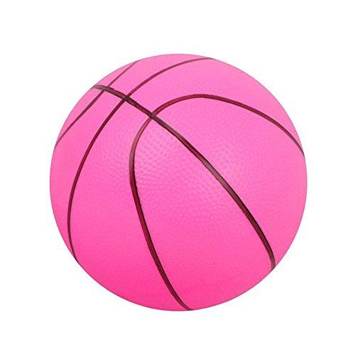 Little Sporter Kunststoff Baketball Aufblasbare Ball Blow up Baketball Strandball Pool Baketball Party Schwimmbad Spielzeug Rosa