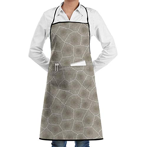 Im Kind Kostüm Muster Wunderland Alice - Einstellbare LatzApron mit Tasche, Petoskey Stone Natural Latzschürze Chef Apron with for Male and Female,Waterproof, Resistant to Droplets, Durable, Machine Washable, Comfortable, Easy Care Apron