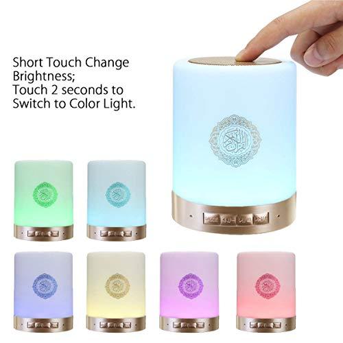 XINWEI SQ112 Quran Smart Touch tragbare LED-Lampe mit Fernbedienung, wiederaufladbar, Bluetooth-Lautsprecher, MP3, FM-Radio, 25 Sprachen, Fernbedienung