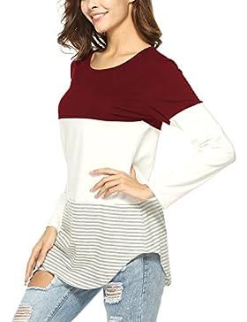 Twippo Blusas de Mujer Manga Larga Túnicas Mujer tartán