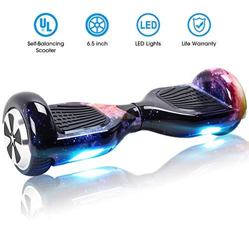 Windgoo Hoverboard 6,5 Pouces,Overboard 700W Self Balance Board avec LED Smart Scooter pour Enfants et Adultes