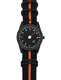 Nato Uhrenarmband in schwarz und orange