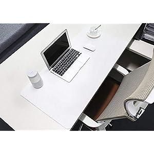 Leder Schreibtisch Matte, Schreibtischmatte Großes Mousepad 600×400 Schreibtischunterlage Wasserdicht Anti Rutsch Matte für Computer, PC und Laptop