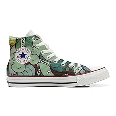 Converse All STar CUSTOMIZED , Sneaker Unisex, printed Italian style artistic - size 35 EU