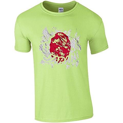 Bandiere Firmata Collezione 2, Mint Green Gildan Softstyle Ringspun T-shirt Verde Cotone Uomo Maglietta Mens T-Shirt Top con Design Colorato. Taglia S M L XL XXL. - Vintage Firmata Giappone